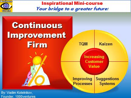 tqm improvement method Business process improvement (bpi) is a management discipline to help  six  sigma use the dmaic/dmadv technique to reduce inconsistencies and defects .