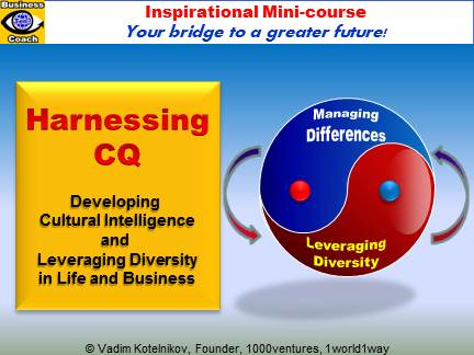 Harnessing Cultural Intelligence (CQ) and Leveraging Diversity (e-course, PowerPoint presentation download, Vadim Kotelnikov)