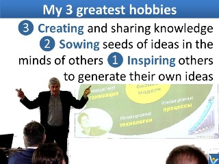 Vadim Kotelnikov 3 hobbies Inspiring others to generate their own ideas