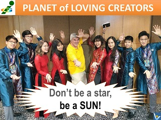Vadim Kotelnikov quotes Don't be a star, be a sun. Innompic Games Planet of Loving Creators