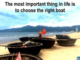 Vadim Kotelnikov quotes Choose the right Life Boat