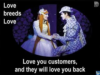 Love your customers and they will love you back Vadim Kotelnikov quotes love breeds love