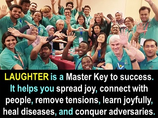 Laughter quotes Laughter is a master key to success Vadim Kotelnikov