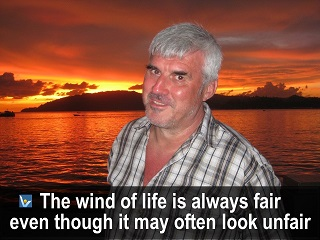 Wind of Life quotes Positive Attitude Vadim Kotelnikov The wind of life is always fair even though it may look unfair
